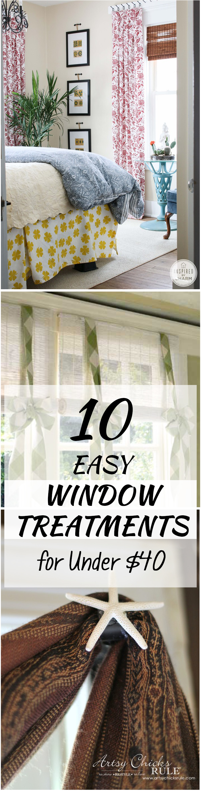 10 Easy Window Treatments for Under $40