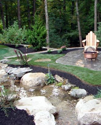 2 landscaping landscaping ideas for backyard creeks. Black Bedroom Furniture Sets. Home Design Ideas